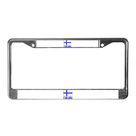 Flag 10x10 Sample License Plate Frame