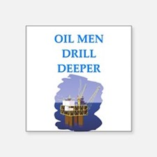 """OIL men Square Sticker 3"""" x 3"""""""