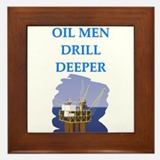 OIL men Framed Tile