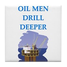 OIL men Tile Coaster