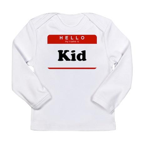 Name Badge Long Sleeve Infant T-Shirt
