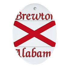 Brewton Alabama Ornament (Oval)