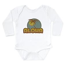 Aloha Palm Long Sleeve Infant Bodysuit