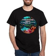 Coral Princess FLL - LA - Black T-Shirt