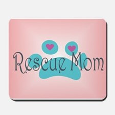 Rescue Mom with hearts and background Mousepad