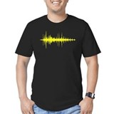 Music Fitted T-shirts (Dark)