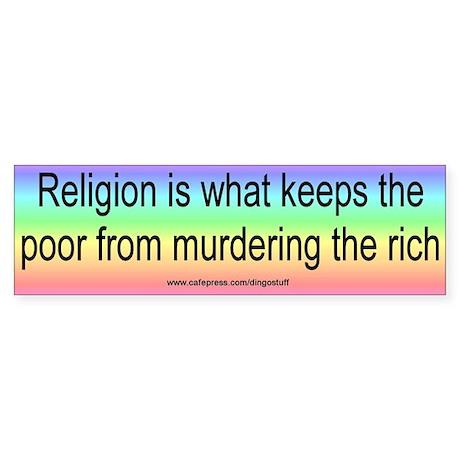 """Social Religion"" Bumper Sticker"