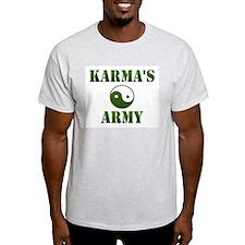 Karma's Army Ash Grey T-Shirt