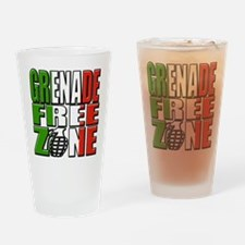 Grenade Free Zone Jersey Shore Drinking Glass