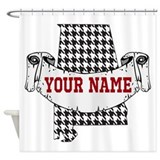 Alabama crimson tide Shower Curtains