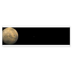 Mars and moons Bumper Sticker