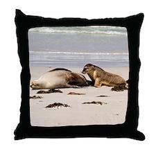 Australian Sea Lion Throw Pillow