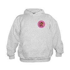 Monkey Girl - Pink Hoodie
