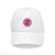 Monkey Girl - Pink Baseball Cap