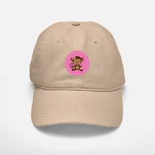 Monkey Girl - Pink Baseball Baseball Cap