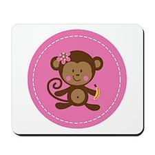 Monkey Girl - Pink Mousepad