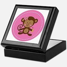Monkey Girl - Pink Keepsake Box