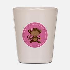 Monkey Girl - Pink Shot Glass