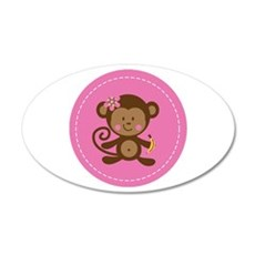 Monkey Girl - Pink Wall Decal