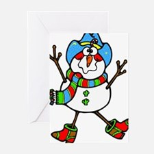 Cowboy Snowman Greeting Cards (Pk of 20)