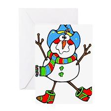 Cowboy Snowman Greeting Card