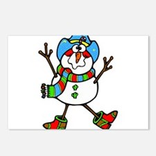 Cowboy Snowman Postcards (Package of 8)