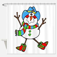Cowboy Snowman Shower Curtain