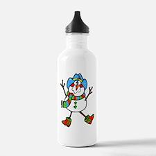 Cowboy Snowman Water Bottle