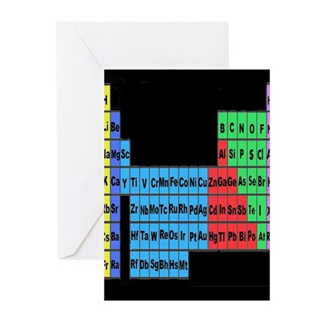 periodic table vertical.PNG Greeting Cards (Pk of