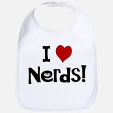 I Love Nerds Bib