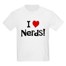 I Love Nerds Kids T-Shirt