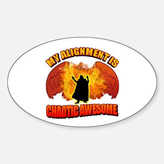 Chaotic Awesome Sticker (Oval)