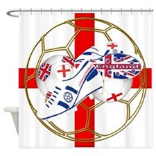 England football and boot crest Shower Curtain