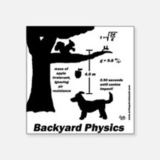 """Backyard Physics Square Sticker 3"""" x 3"""""""