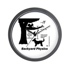 Backyard Physics Wall Clock