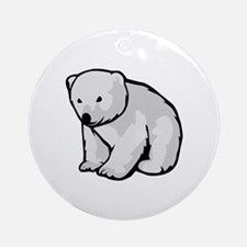 Polar Bear Cub Ornament (Round)