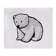 Polar Bear Cub Throw Blanket