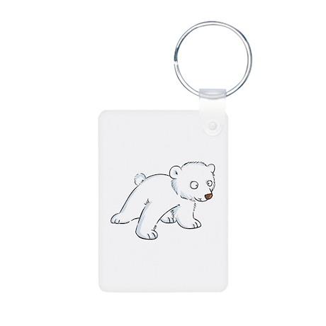 Polar Bear Aluminum Photo Keychain