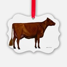 Shorthorn dairy cow Ornament