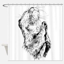 Praying otter Shower Curtain