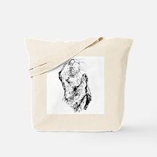 Praying otter Tote Bag