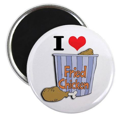 I Heart (Love) Fried Chicken Magnet