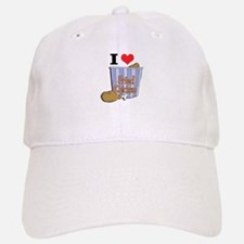 I Heart (Love) Fried Chicken Baseball Baseball Cap