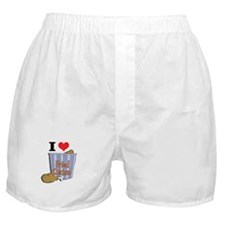 I Heart (Love) Fried Chicken Boxer Shorts