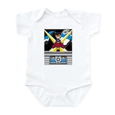 Superhero Girl on Rooftop Infant Bodysuit