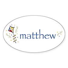 Matthew Oval Decal