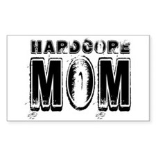 Hardcore Mom Rectangle Decal