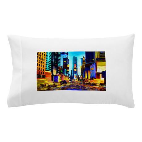 Times Square Pillow Case
