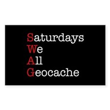 Saturdays we all geocache Decal