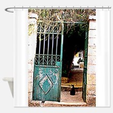 Gateway Cat 02 HDR Shower Curtain
